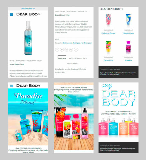Dearbody - Homepage Product Movil